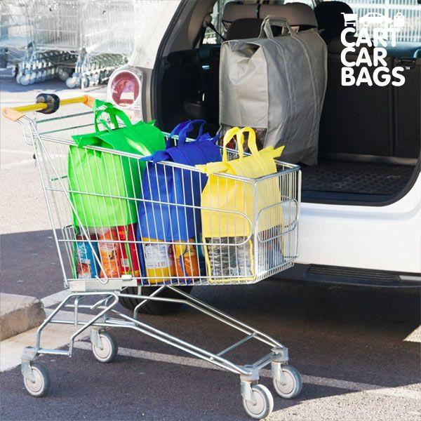 Einkaufstaschen für Einkaufswagen 4er Set Mehrwegtaschen