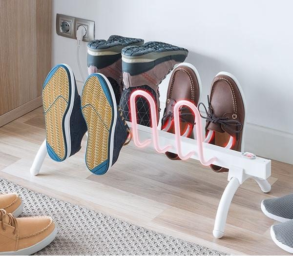 Beheizbarer Schuhständer für 4 Paar Schuhe